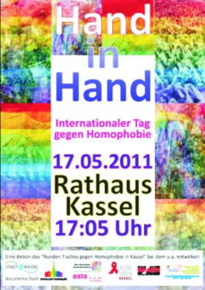 Aktion gegen Homophobie am 17.05. in Kassel